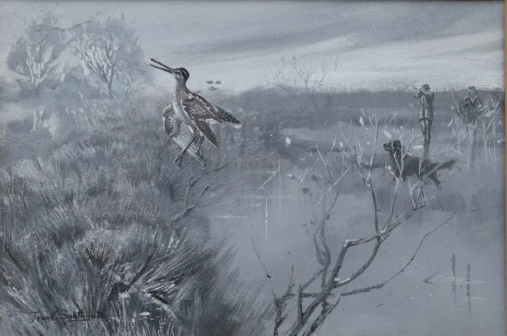 Snipe Shooting - Frank Southgate - en grisaille