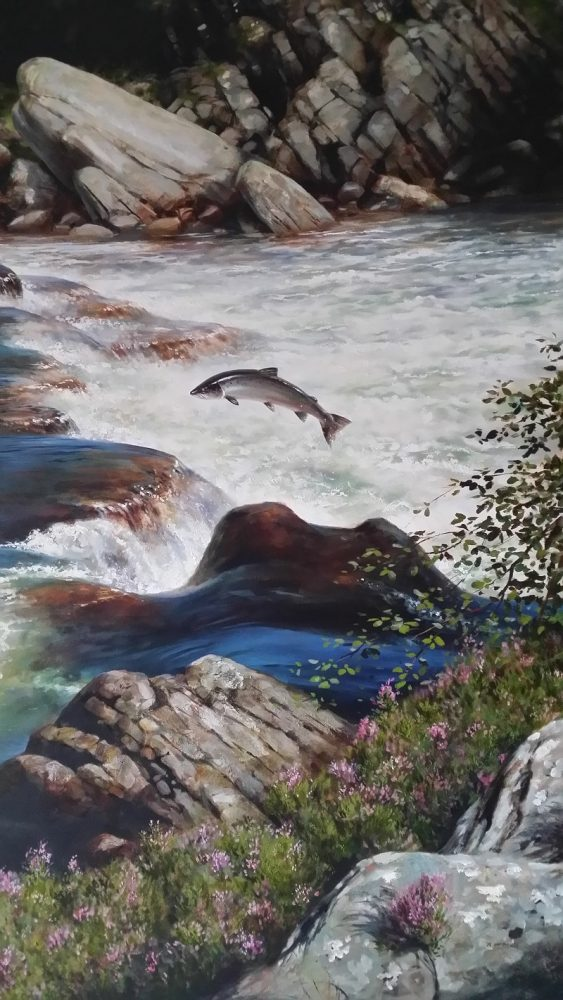Summer Salmon - Rodger McPhail - Oil on Canvas