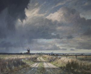 Norfolk Marshes Oil Painting Colin Burns