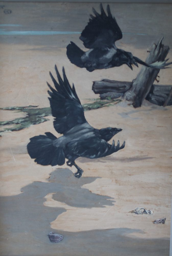 Hooded Crows - Richard Talbot-Kelly - Oil on Board