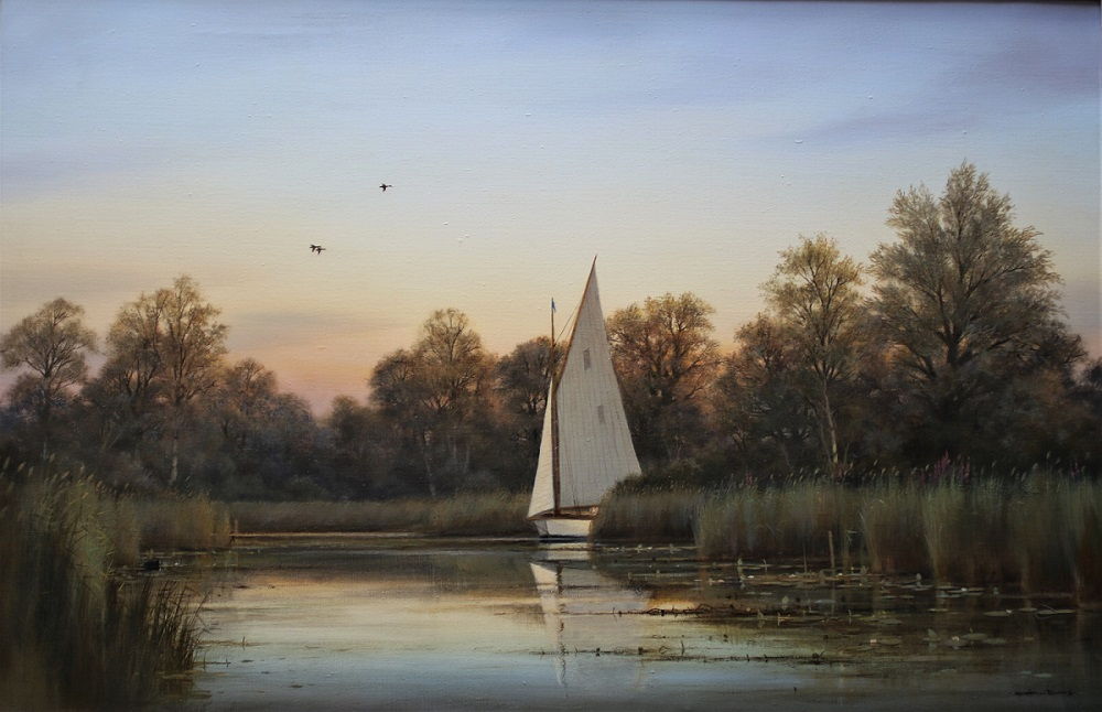 Ranworth, Norfolk Broads - Colin Burns - Oil on Canvas