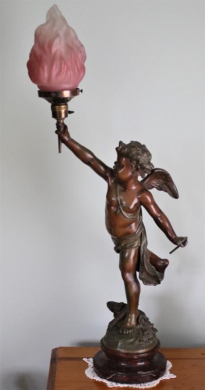 Bronze Cherub Table Lamp