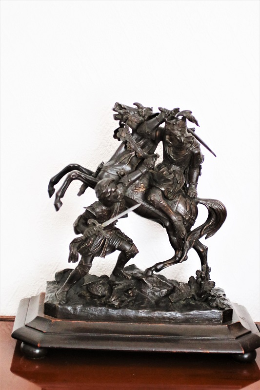 c19 Century Bronze - French Prince in Battle