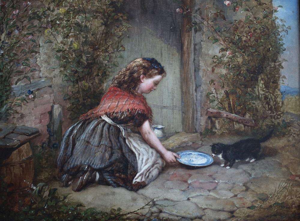 Stray Kitten - John F Pasmore - Oil Painting